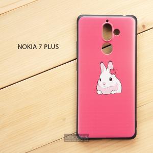 เคส Nokia 7 Plus เคสนิ่ม TPU พิมพ์ลาย (ขอบดำ) แบบที่ 7