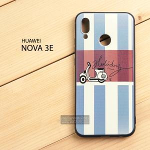 เคส Huawei Nova 3E เคสนิ่ม TPU พิมพ์ลาย (ขอบดำ) แบบที่ 5