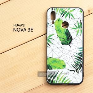 เคส Huawei Nova 3E เคสนิ่ม TPU พิมพ์ลาย (ขอบดำ) แบบที่ 9