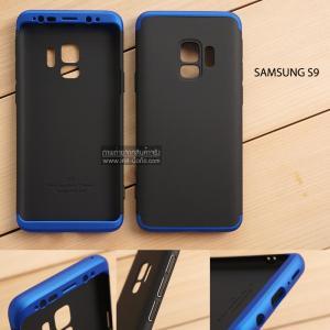 เคส Samsung Galaxy S9 เคสแข็งแบบ 3 ส่วน ครอบคลุม 360 องศา (สีดำ - น้ำเงิน)