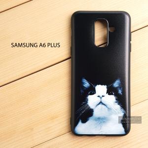 เคส Samsung Galaxy A6 Plus เคสนิ่ม TPU พิมพ์ลาย (ขอบดำ) แบบที่ 8