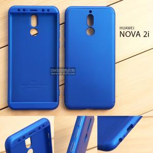 เคส Huawei Nova 2i เคสแข็งแบบ 3 ส่วน ครอบคลุม 360 องศา (สีน้ำเงิน - น้ำเงิน)