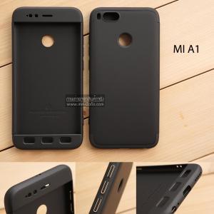 เคส Xiaomi Mi A1 เคสแข็งแบบ 3 ส่วน ครอบคลุม 360 องศา (สีดำ - ดำ)