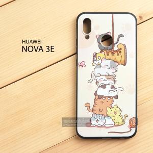 เคส Huawei Nova 3E เคสนิ่ม TPU พิมพ์ลาย (ขอบดำ) แบบที่ 2