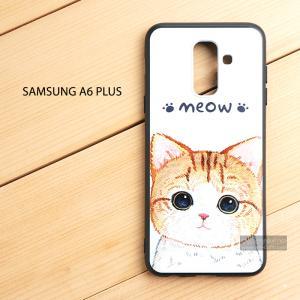 เคส Samsung Galaxy A6 Plus เคสนิ่ม TPU พิมพ์ลาย (ขอบดำ) แบบที่ 7