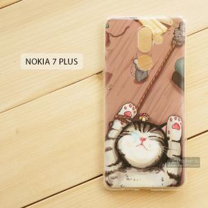 เคส Nokia 7 Plus เคสนิ่ม TPU พิมพ์ลาย แบบที่ 2