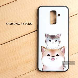 เคส Samsung Galaxy A6 Plus เคสนิ่ม TPU พิมพ์ลาย (ขอบดำ) แบบที่ 1
