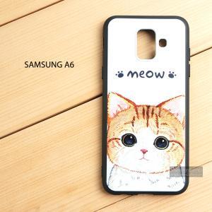 เคส Samsung Galaxy A6 เคสนิ่ม TPU พิมพ์ลาย (ขอบดำ) แบบที่ 1