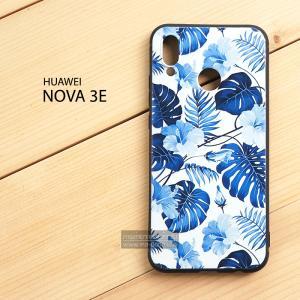 เคส Huawei Nova 3E เคสนิ่ม TPU พิมพ์ลาย (ขอบดำ) แบบที่ 8
