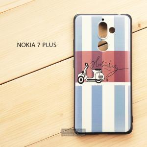 เคส Nokia 7 Plus เคสนิ่ม TPU พิมพ์ลาย (ขอบดำ) แบบที่ 4