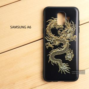 เคส Samsung Galaxy A6 เคสนิ่ม TPU พิมพ์ลาย (ขอบดำ) แบบที่ 6
