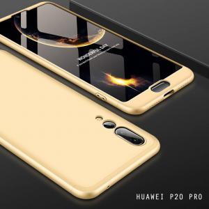 เคส Huawei P20 PRO เคสแข็งแบบ 3 ส่วน ครอบคลุม 360 องศา (สีทอง - ทอง)