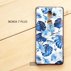 เคส Nokia 7 Plus เคสนิ่ม TPU พิมพ์ลาย (ขอบดำ) แบบที่ 3