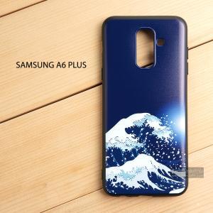 เคส Samsung Galaxy A6 Plus เคสนิ่ม TPU พิมพ์ลาย (ขอบดำ) แบบที่ 2