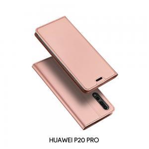 เคส Huawei P20 PRO เคสฝาพับเกรดพรีเมี่ยม เย็บขอบ พับเป็นขาตั้งได้ สีโรสโกลด์ (Dux Ducis)