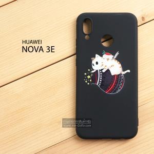 เคส Huawei Nova 3E เคสนิ่ม TPU พิมพ์ลาย (ขอบดำ) แบบที่ 4