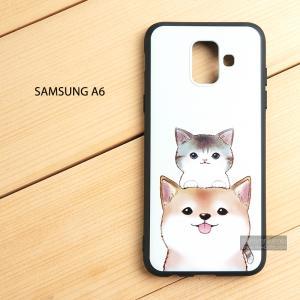 เคส Samsung Galaxy A6 เคสนิ่ม TPU พิมพ์ลาย (ขอบดำ) แบบที่ 8