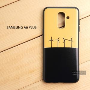 เคส Samsung Galaxy A6 Plus เคสนิ่ม TPU พิมพ์ลาย (ขอบดำ) แบบที่ 4