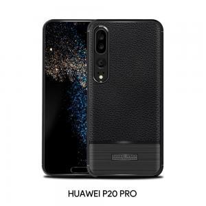 เคส Huawei P20 PRO เคสนิ่ม เกรดพรีเมี่ยม ( ลายหนัง + โลหะขัด )