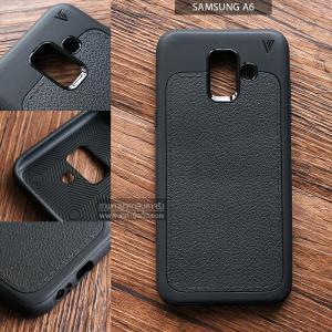 เคส Samsung Galaxy A6 เคสนิ่ม เกรดพรีเมี่ยม ลายหนัง (ขอบนูนกันกล้อง) แบบที่ 1