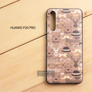 เคส Huawei P20 Pro เคสนิ่ม TPU พิมพ์ลาย (ขอบดำ) แบบที่ 8
