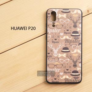 เคส Huawei P20 เคสนิ่ม TPU พิมพ์ลาย (ขอบดำ) แบบที่ 8