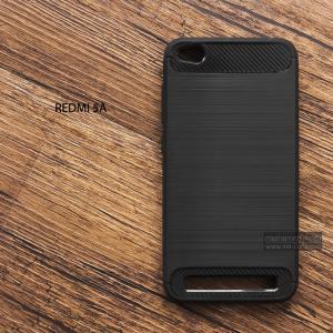 เคส Xiaomi Redmi 5A เคสนิ่มกันกระแทก (Texture ลายโลหะขัด) ลดรอยนิ้วมือ สีดำ