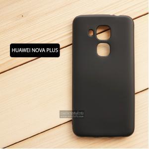 เคส Huawei NOVA Plus เคสนิ่ม TPU สีเรียบ สีดำ