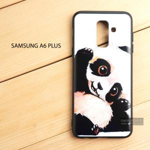 เคส Samsung Galaxy A6 Plus เคสนิ่ม TPU พิมพ์ลาย (ขอบดำ) แบบที่ 9