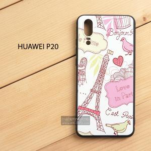 เคส Huawei P20 เคสนิ่ม TPU พิมพ์ลาย (ขอบดำ) แบบที่ 7