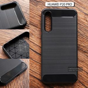 เคส Huawei P20 Pro เคสนิ่มเกรดพรีเมี่ยม (Texture ลายโลหะขัด) กันลื่น ลดรอยนิ้วมือ สีดำ