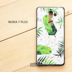 เคส Nokia 7 Plus เคสนิ่ม TPU พิมพ์ลาย (ขอบดำ) แบบที่ 5