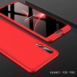 เคส Huawei P20 PRO เคสแข็งแบบ 3 ส่วน ครอบคลุม 360 องศา (สีแดง - แดง) สำเนา