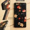 เคส Huawei P9 เคสอะครีลิค ขอบยางสีดำ พิมพ์ลายนูน (Flower) สีดำ