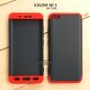 เคส Xiaomi Mi 5 เคสแข็งแบบ 3 ส่วน ครอบคลุม 360 องศา (สีดำ - แดง)