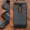 เคส Nokia 6 (2018) เคสนิ่มเกรดพรีเมี่ยม (Texture ลายโลหะขัด) กันลื่น ลดรอยนิ้วมือ สีดำ