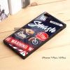 เคส iPhone 7 Plus / 8 Plus เคสขอบยางดำ + กระจกกันรอยครอบทับหลังเคส เกรดพรีเมี่ยม พิมพ์ลาย แบบที่ 1