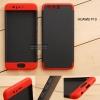เคส Huawei P10 เคสแข็งแบบ 3 ส่วน ครอบคลุม 360 องศา (สีดำ - แดง)