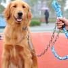 สายจูงสุนัขพันธุ์ใหญ่ สีฟ้า