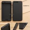 เคส Huawei P10 เคสแข็งแบบ 3 ส่วน ครอบคลุม 360 องศา (สีดำ - ดำ)