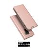 เคส Samsung Galaxy A6+ (PLUS) เคสฝาพับเกรดพรีเมี่ยม เย็บขอบ พับเป็นขาตั้งได้ สีโรสโกลด์ (Dux Ducis)
