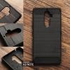 เคส Lenovo K8 Note เคสนิ่มกันกระแทก (Texture ลายโลหะขัด) กันลื่น ลดรอยนิ้วมือ สีดำ