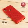 เคส Xiaomi Redmi Note 5 เคสแข็งสีเรียบ (รูระบายอากาศที่เคส) สีแดง