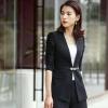 เสื้อสูทแฟชั่น พร้อมส่ง เสื้อสูท สีดำ แต่งขลิบสีดำเก๋ แขนสีส่วนแต่งด้วยผ้ามุ้งหยุ่นๆ ตัวยาวคลุมสะโพก ดีเทลกระดุมสุดเก๋