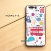 เคส Huawei P10 เคสนิ่ม TPU พิมพ์ลาย 3D (ขอบดำ) แบบที่ 2 I Love London