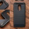 เคส Redmi 5 เคสนิ่มเกรดพรีเมี่ยม (Texture ลายโลหะขัด แบบขอบนูนรอบกล้อง) กันลื่น ลดรอยนิ้วมือ สีดำ