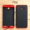 เคส Samsung Galaxy C9 Pro เคสแข็ง 3 ส่วน ครอบคลุม 360 องศา (สีดำ - แดง)