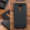 เคส Huawei GR5 2017 เคสนิ่มเกรดพรีเมี่ยม (Texture ลายโลหะขัด) กันลื่น ลดรอยนิ้วมือ สีดำ