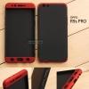 เคส OPPO R9s PRO เคสแข็งแบบ 3 ส่วน ครอบคลุม 360 องศา (สีดำ - แดง)