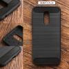 เคส Redmi 5 Plus เคสนิ่มเกรดพรีเมี่ยม (Texture ลายโลหะขัด) กันลื่น ลดรอยนิ้วมือ สีดำ